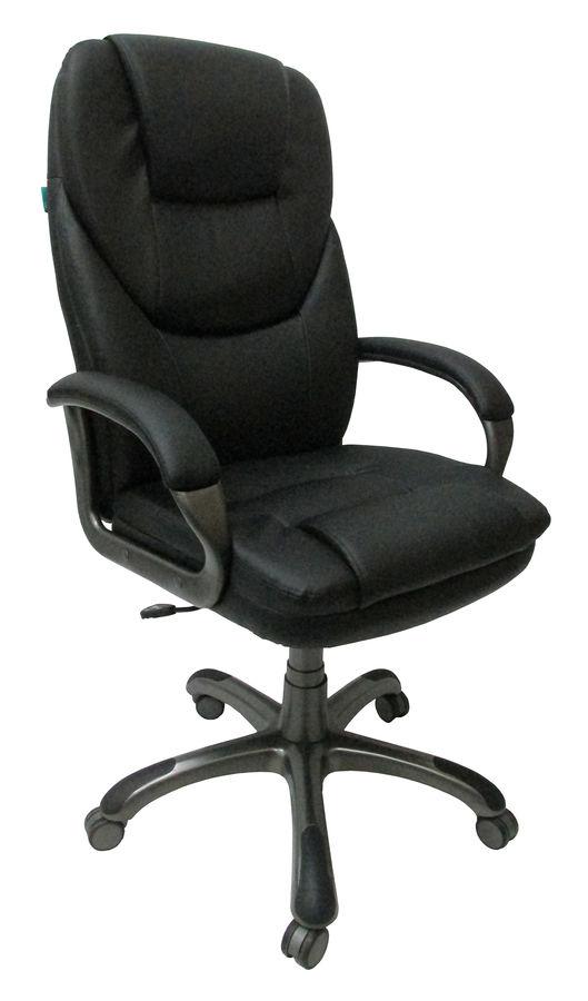 Кресло руководителя БЮРОКРАТ T-9905, на колесиках, искусственная кожа, черный [t-9905dg/black]