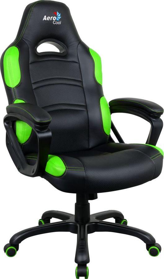 Кресло игровое AEROCOOL AC80C AIR-BG, на колесиках, полиуретан [525117]