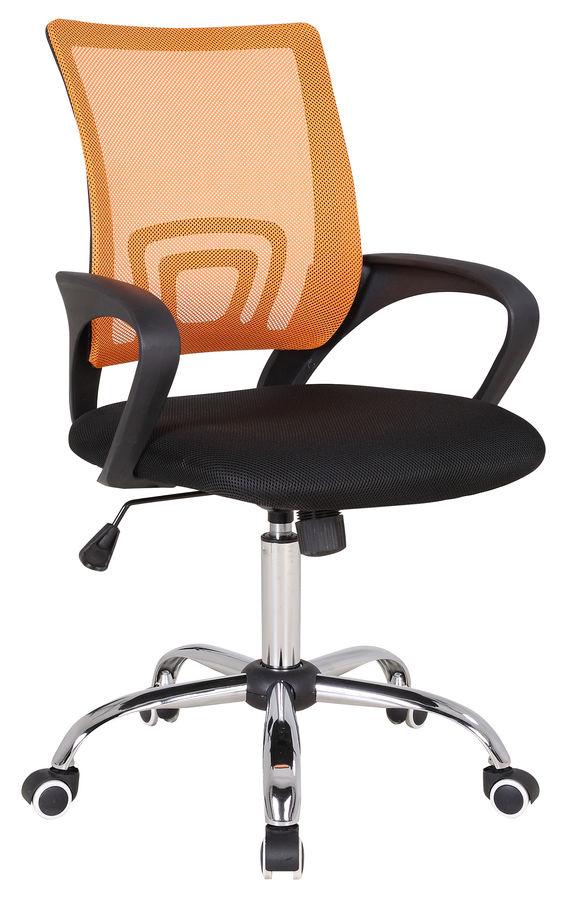 Кресло БЮРОКРАТ CH-695SL, на колесиках, ткань, черно-оранжевый [ch-695sl/or/black]