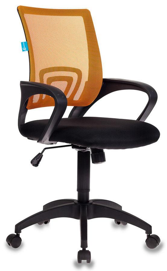 Кресло БЮРОКРАТ CH-695, на колесиках, ткань, оранжевый [ch-695/or/black]