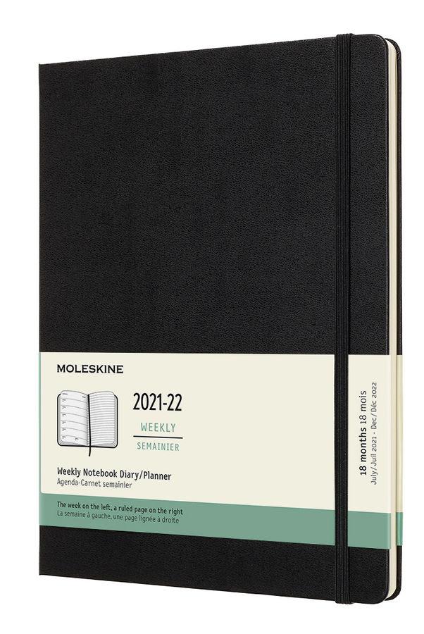 Еженедельник MOLESKINE Academic WKNT,  датированный на 18 месяцев,  208стр.,  черный [dhb18wn4]