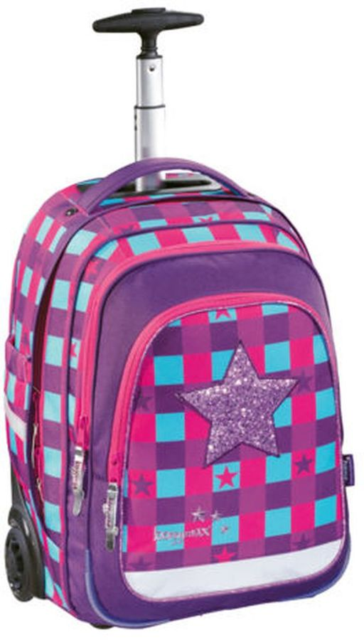 Ранец Step By Step BaggyMax Trolley розовый/фиолетовый Pink Star