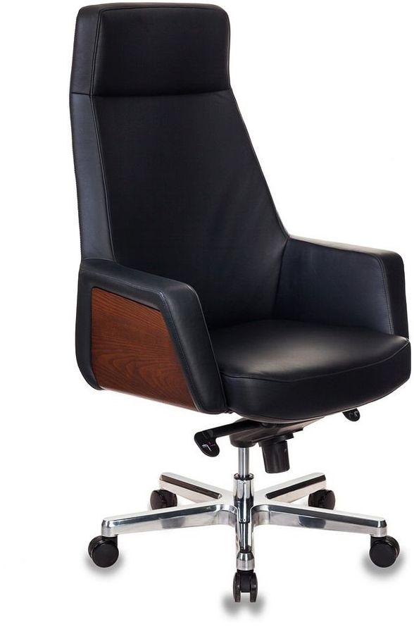 Кресло руководителя БЮРОКРАТ _Antonio, на колесиках, кожа, черный [_antonio/black]