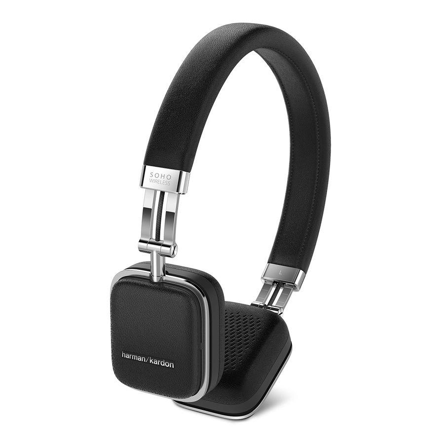 Наушники с микрофоном HARMAN KARDON SOHO BT, 3.5 мм/Bluetooth, накладные, черный [hksohobtblk]