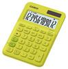 Калькулятор CASIO MS-20UC-YG-S-EC,  12-разрядный, желтый вид 1