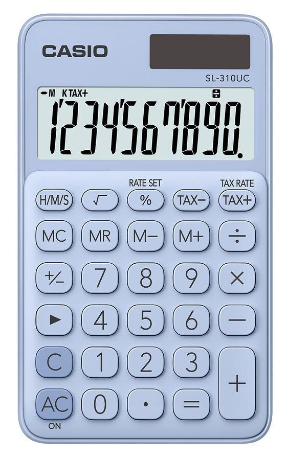 Калькулятор CASIO SL-310UC-LB-S-EC,  10-разрядный, светло-голубой