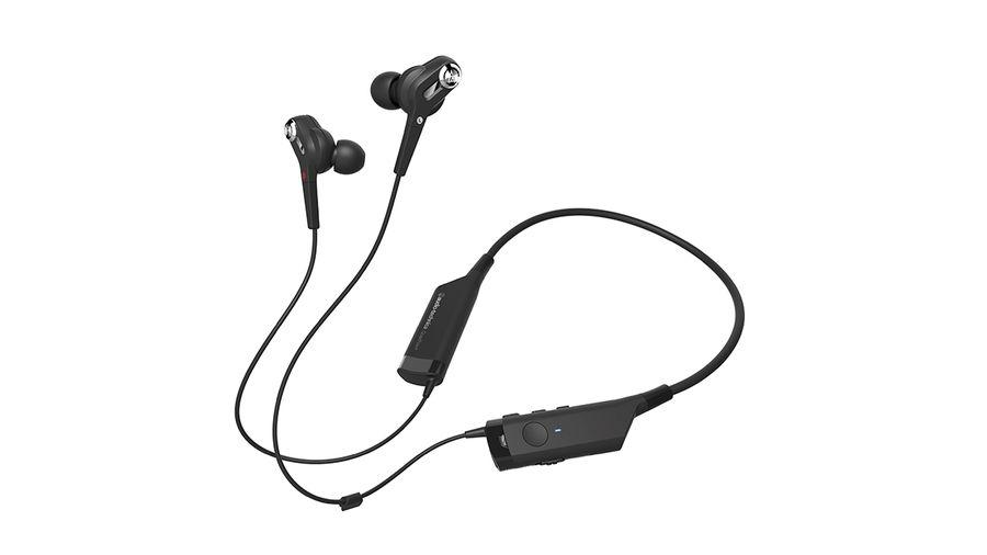 Наушники с микрофоном AUDIO-TECHNICA ATH-ANC40BT, Bluetooth, вкладыши, черный