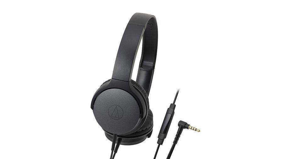 Наушники с микрофоном AUDIO-TECHNICA ATH-AR1ISBK, 3.5 мм, накладные, черный