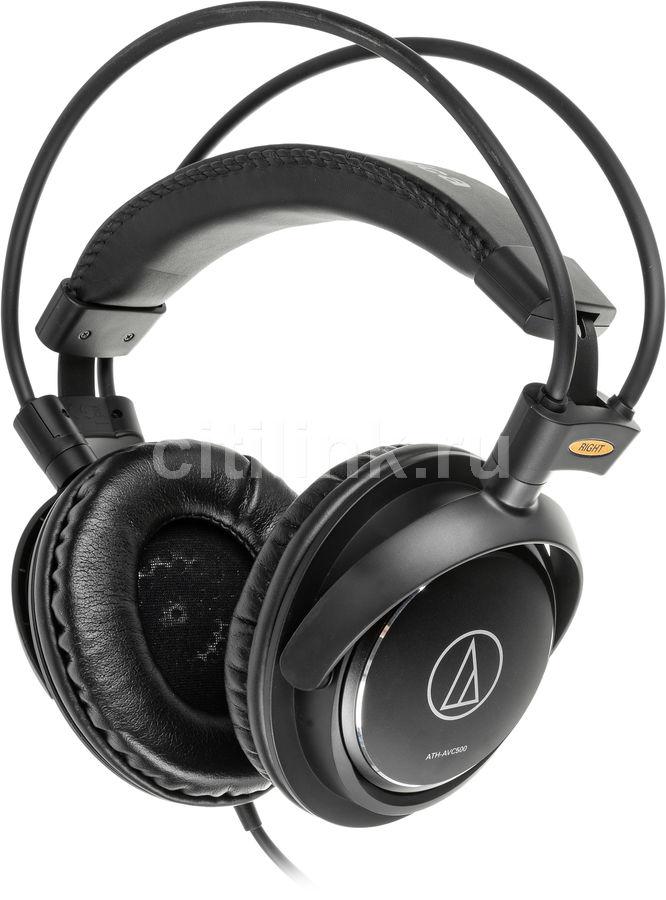 Наушники AUDIO-TECHNICA ATH-AVC500, 3.5 мм, мониторы, черный