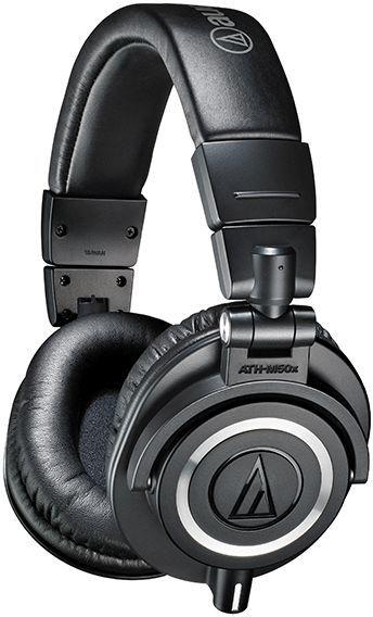 Наушники AUDIO-TECHNICA ATH-M50X, 3.5 мм, мониторы, черный