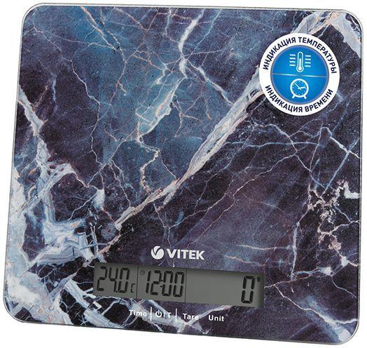 Весы кухонные VITEK VT-8022,  фиолетовый/рисунок