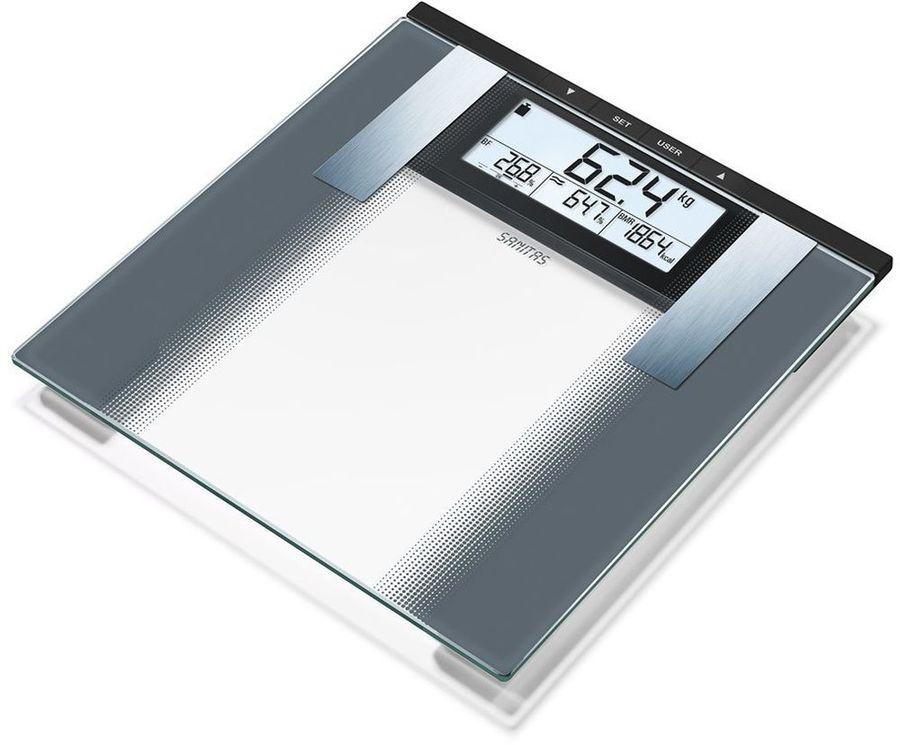 Напольные весы SANITAS SBG 21, до 180кг, цвет: прозрачный [764.35]