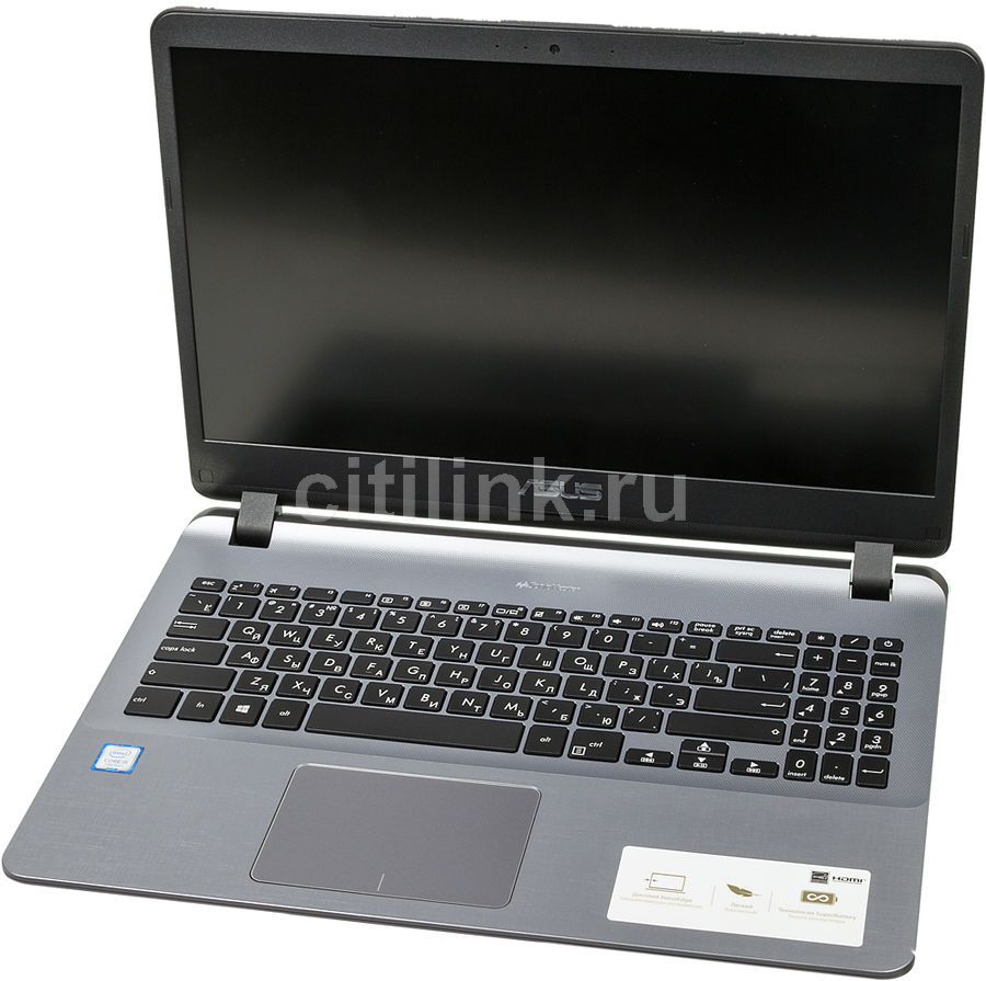 Ноутбук ASUS X507UA-EJ091T, 15.6, Intel Core i5 7200U 2.5ГГц, 4Гб, 1000Гб, Intel HD Graphics 620, Windows 10, 90NB0HI1-M01890, серый