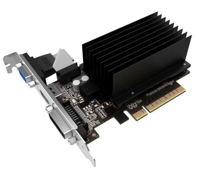 Видеокарта PALIT nVidia  GeForce GT 710 ,  PA-GT710-1GD3H LP*2,  1Гб, DDR3, Low Profile,  Ret [neat7100hd06-2080h]