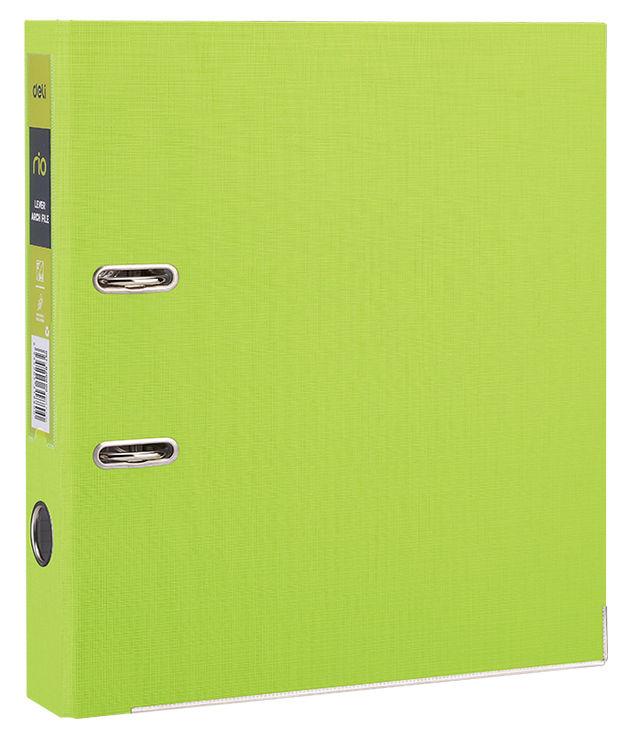 Папка-регистратор Deli EB20060 A4 50мм полипропилен/бумага зеленый разборная смен.карм. на кор.
