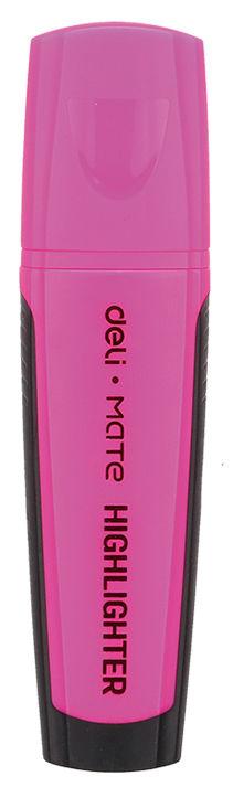 Текстовыделитель Deli EU35040 Mate скошенный пиш. наконечник 1-5мм резиновый грип розовый