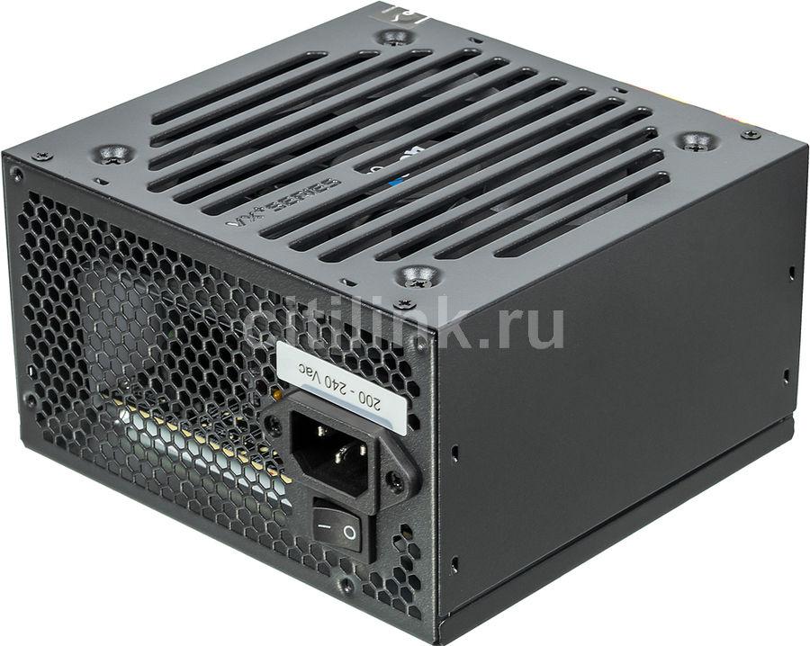 Блок питания AEROCOOL VX-650 PLUS,  650Вт,  120мм,  черный, retail