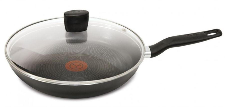 Сковорода TEFAL Extra 04165928, 28см, с крышкой,  черный [9100023396]
