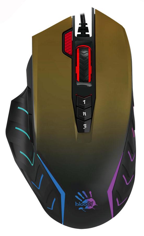 Мышь A4 Bloody J95, игровая, оптическая, проводная, USB, рисунок