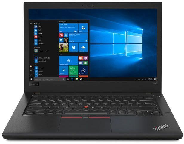 """Ноутбук LENOVO ThinkPad T480, 14"""",  IPS, Intel  Core i7  8550U 1.8ГГц, 8Гб, 16Гб Intel Optane,  1000Гб,  nVidia GeForce  Mx150 - 2048 Мб, Windows 10 Professional, 20L50005RT,  черный"""