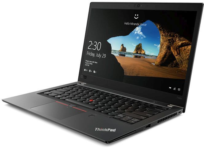 Ноутбук LENOVO ThinkPad T480s, 14, Intel Core i7 8550U .8ГГц, 16Гб, 512Гб SSD,  UHD Graphics 620, Windows 10 Professional, 20L7001HRT, черный