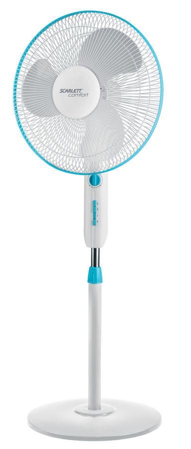 Вентилятор напольный SCARLETT SC-SF111T01,  белый и голубой [sc - sf111t01]