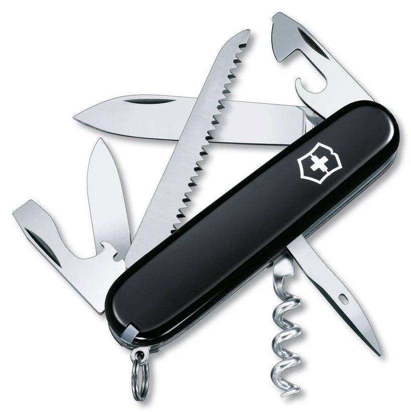 Складной нож VICTORINOX Camper, 13 функций,  91мм, черный  [1.3613.3r]