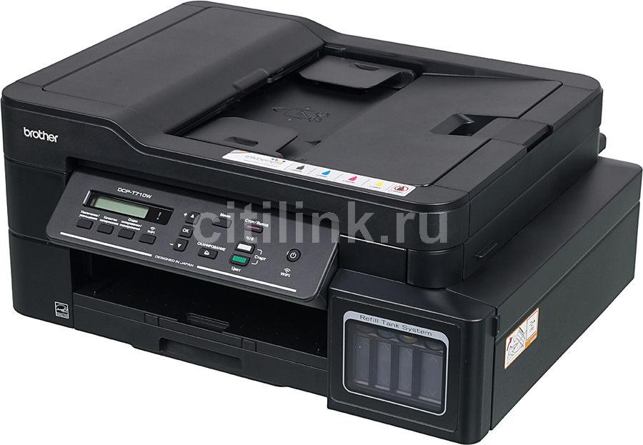 МФУ струйный BROTHER InkBenefit Plus DCP-T710W, A4, цветной, струйный, черный [dcpt710wr1]
