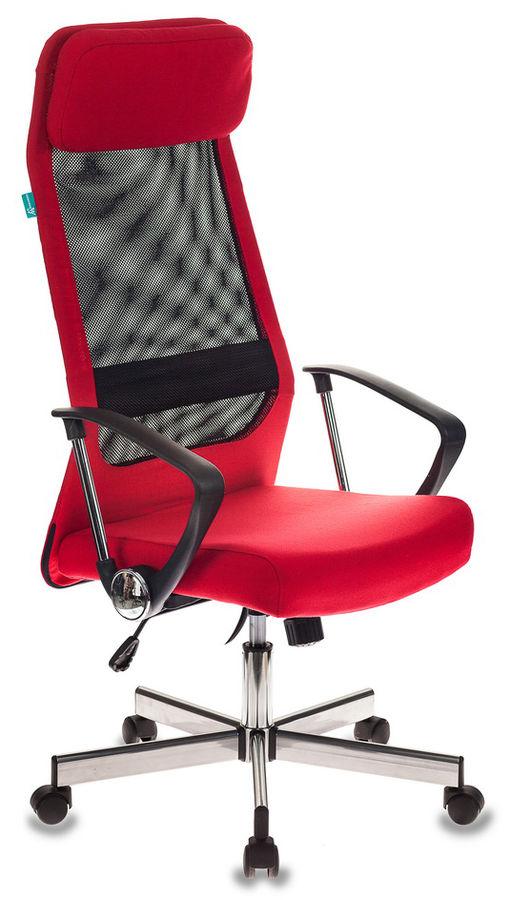 Кресло руководителя БЮРОКРАТ T-995HOME, на колесиках, сетка/ткань, красный [t-995home/red]