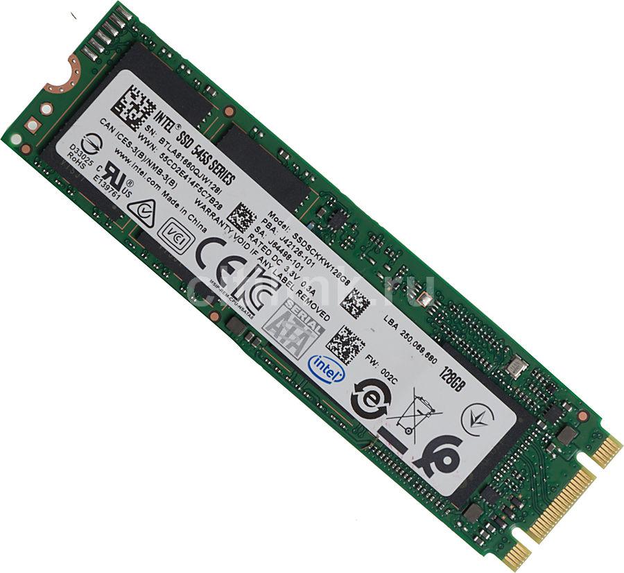 SSD накопитель INTEL 545s Series SSDSCKKW128G8X1 128Гб, M.2 2280, SATA III [ssdsckkw128g8x1 959549]