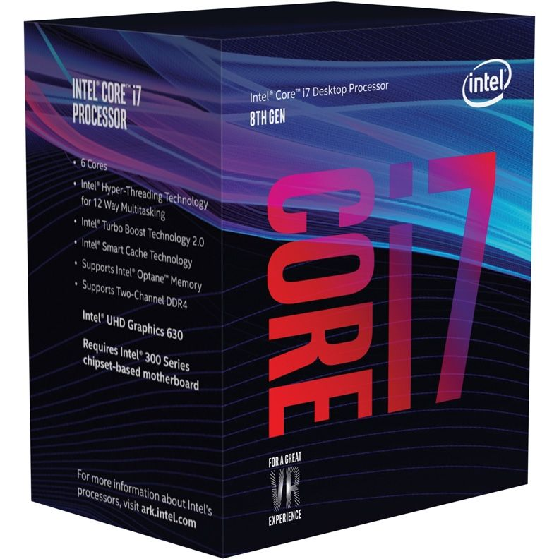 Процессор INTEL Core i7 8700K, LGA 1151v2 BOX