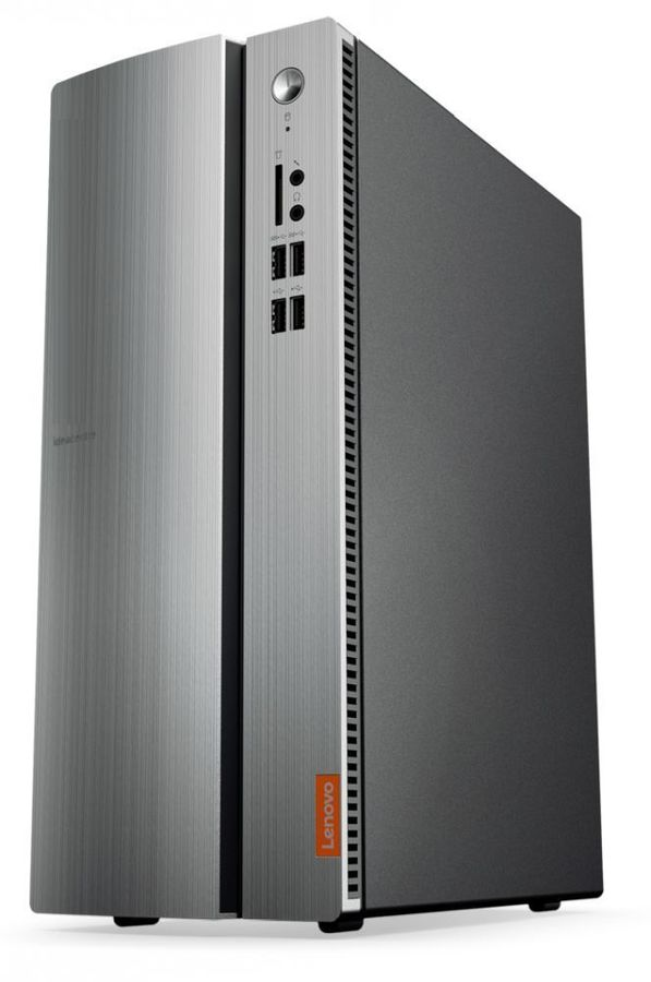 Компьютер  LENOVO IdeaCentre 510-15IKL,  Intel  Core i3  7100,  DDR4 4Гб, 1000Гб,  NVIDIA GeForce GTX 1050 - 2048 Мб,  Windows 10,  черный и серебристый [90g8001xrs]