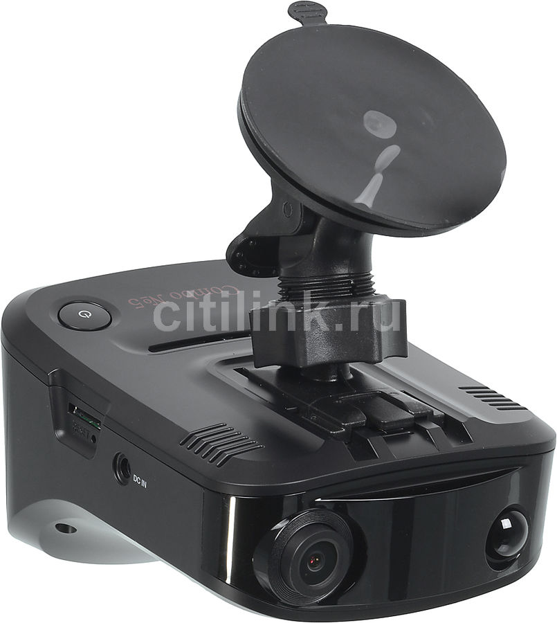 Видеорегистратор с радар-детектором Sho-Me COMBO №5 А12 GPS ГЛОНАС черный