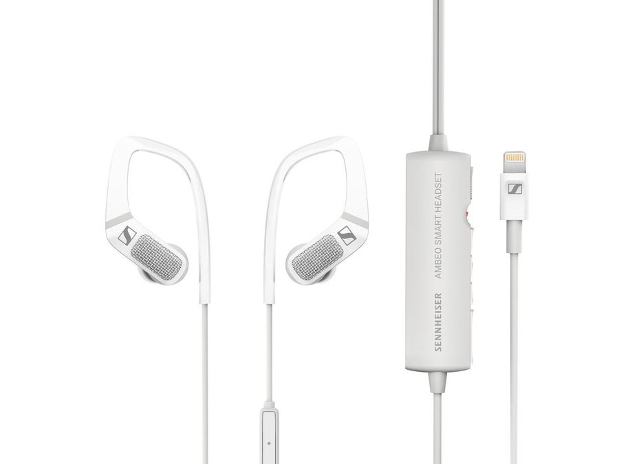 Наушники с микрофоном SENNHEISER Ambeo Smart, Lightning, вкладыши, белый