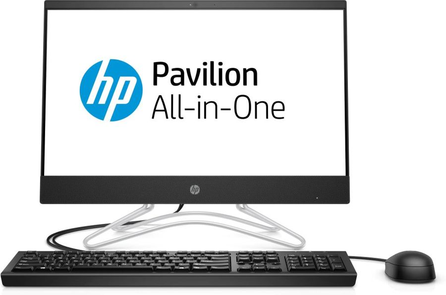 "Моноблок HP 200 G3, 21.5"", Intel Core i3 8130U, 4Гб, 1000Гб, 128Гб SSD,  Intel UHD Graphics 620, DVD-RW, Free DOS, черный [3zd38ea]"