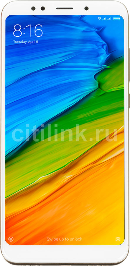 Смартфон XIAOMI Redmi 5 plus 32Gb, золотистый