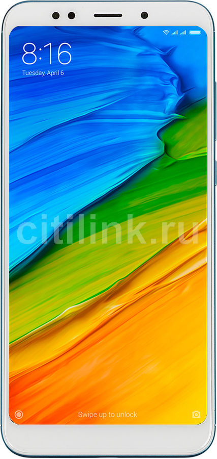 Смартфон XIAOMI Redmi 5 plus 64Gb,  синий
