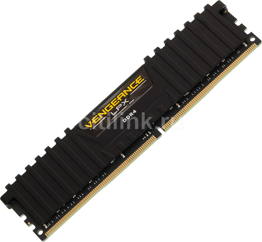 Модуль памяти CORSAIR Vengeance LPX CMK16GX4M1D3000C16 DDR4 -  16Гб 3000, DIMM,  Ret