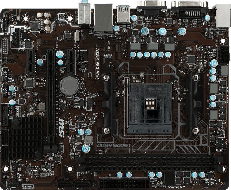 Материнская плата MSI A320M PRO-VD/S, SocketAM4, AMD A320, mATX, Ret