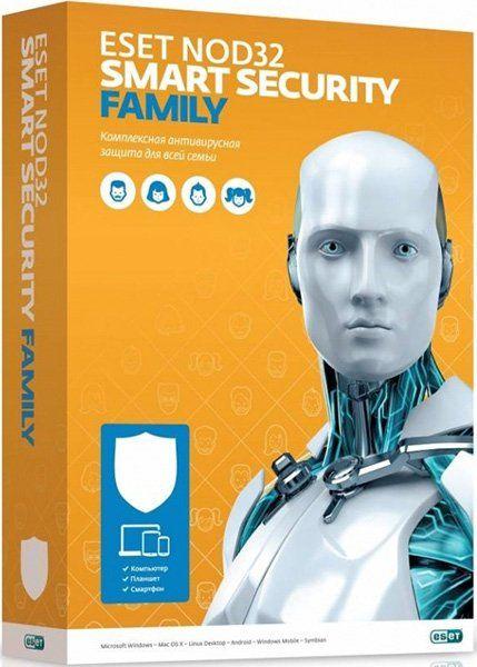 ПО Eset NOD32 Smart Security Family 3 устройства 1 год Renewal Box (NOD32-ESM-RN(BOX)-1-3)
