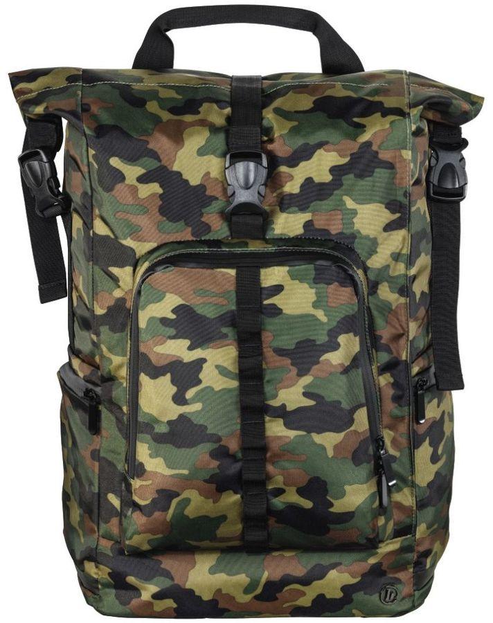 """Рюкзак 15.6"""" HAMA Roll-Top, зеленый/камуфляж [00101820]"""