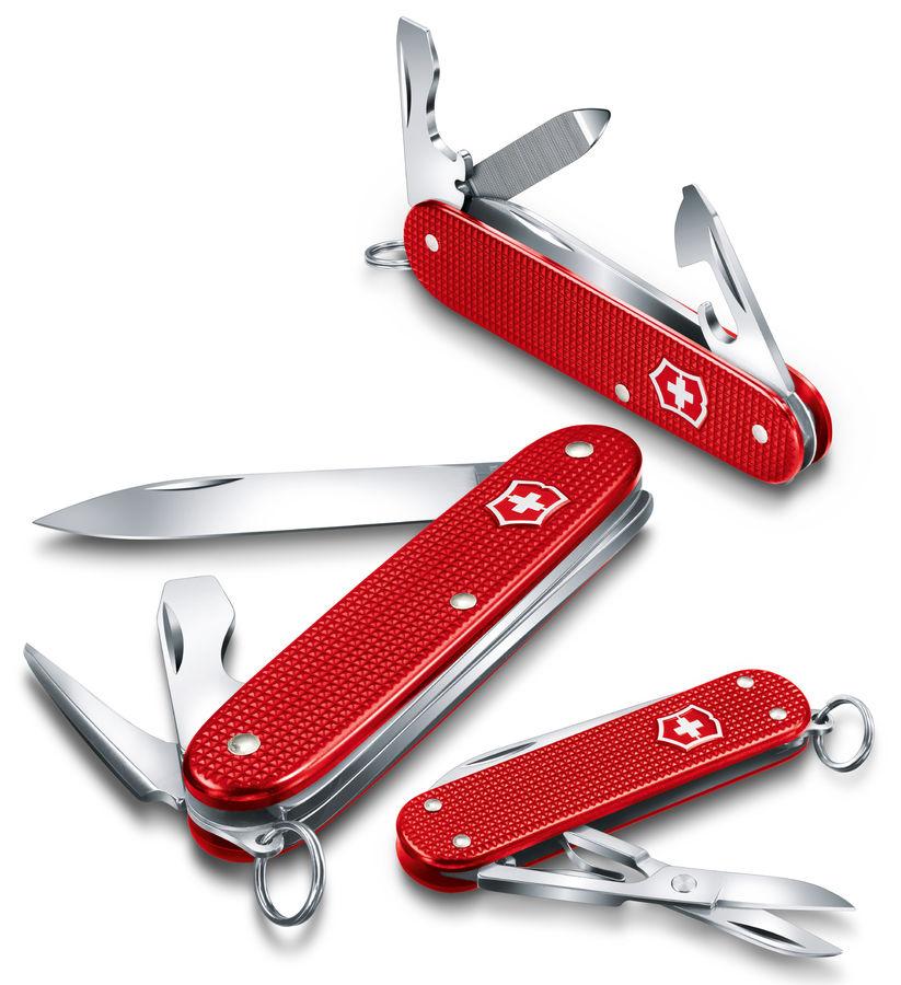 Складной нож VICTORINOX Alox Pioneer, 8 функций,  93мм, красный  [0.8201.l18]