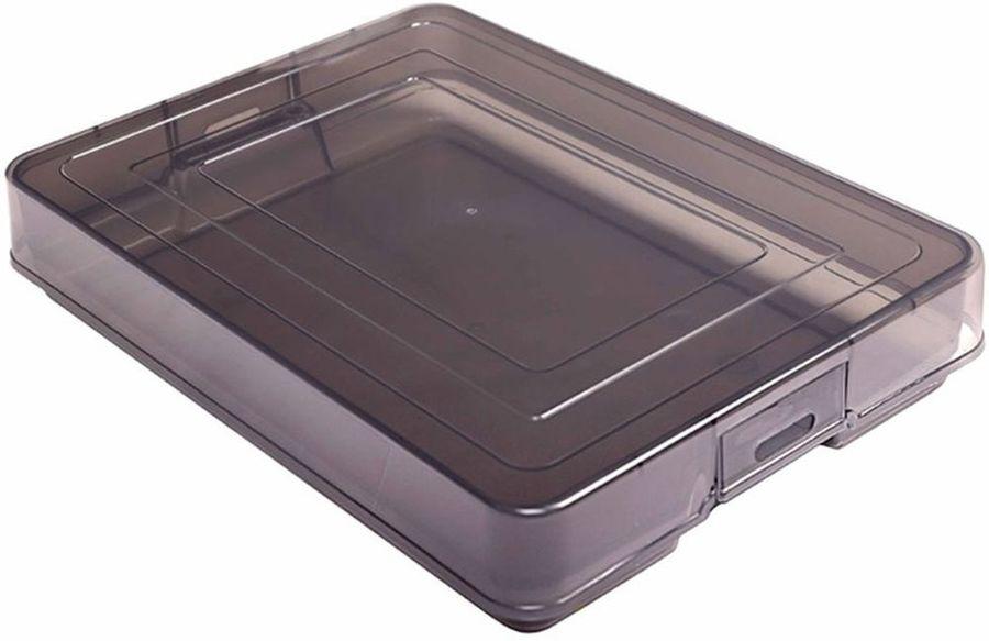 Контейнер для документов Стамм KT11 A4 260x350x65мм серый/тонированный пластик