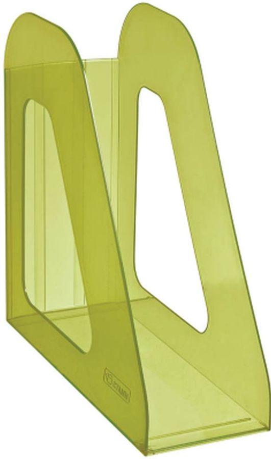 Лоток вертикальный Стамм ЛТ707 Фаворит 233x90x240мм зеленый/тонированный пластик