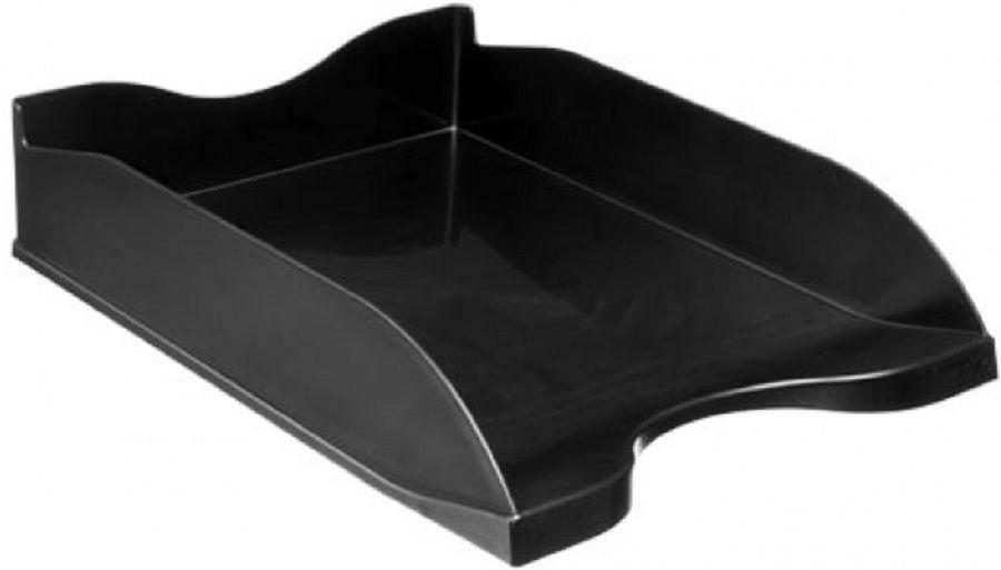 Лоток горизонтальный Стамм ОФ888 Люкс 70x350x255мм черный пластик