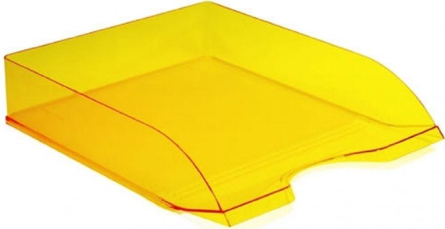 Лоток горизонтальный Стамм ЛТ658 Дельта 60x315x250мм желтый пластик