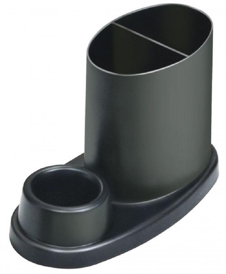 Органайзер настольный Стамм ОР54 Эллипс 100x170x85мм черный пластик
