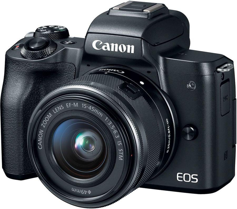Купить Фотоаппарат CANON EOS M50 kit ( 15-45 IS STM), черный в интернет-магазине СИТИЛИНК, цена на Фотоаппарат CANON EOS M50 kit ( 15-45 IS STM), черный (1053165) - Москва