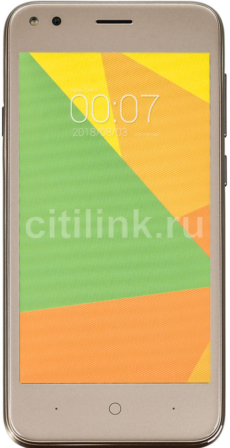 Смартфон MICROMAX BOLT Ultra 1 8Gb, Q437, шампань смартфон micromax q346 lite grey 4 5 854x480 fm радио bluetooth wi fi 3g android 5 1 1700 ма ч