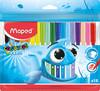 Фломастеры Maped COLOR`PEPS OCEAN 845721 супер-смываемые 18цв. заблокированный пишущий узел пакет с